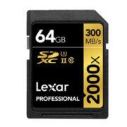 Lexar 64GB SDXC 2000x Professional UHS-II 300MB/s