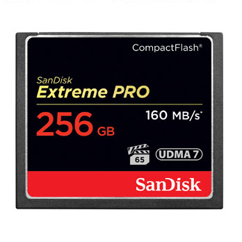 SanDisk 256GB Compact Flash Card Extreme Pro VPG65 160MB/s