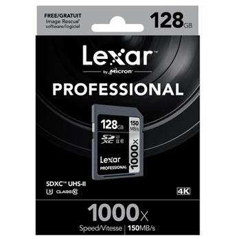 Lexar 128GB SDXC 1000x Professional UHS-II 150MB/s