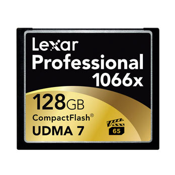 Lexar 128GB Professional 1066x Compact Flash VPG65 160MB/s