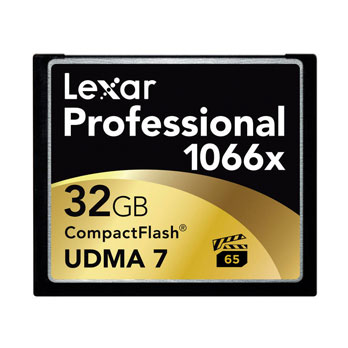 Lexar 32GB Professional 1066x Compact Flash VPG65 160MB/s