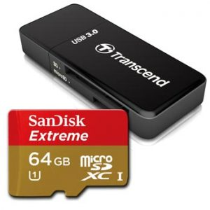 64GB micro SD Extreme incl. USB 3.0 card reader