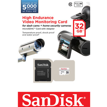 High Endurance Video Monitoring SanDisk 32GB micro SD Card