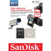 High Endurance Video Monitoring SanDisk 64GB micro SD Card