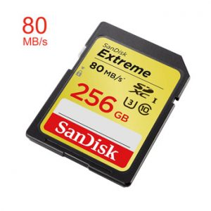 SanDisk 256GB SDXC Extreme Class 10 UHS-I 80MB/s