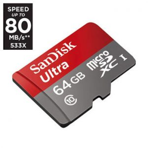 SanDisk 64GB micro SD ULTRA UHS-I 80MB/s
