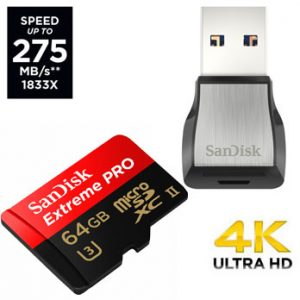SanDisk 64GB microSDXC Extreme Pro UHS-II U3 275MB/s