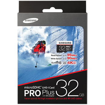 Samsung 32GB microSDHC Pro Plus UHS-I U3 95MB/s