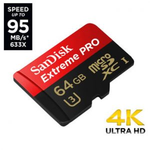 SanDisk 64GB micro SD Extreme Pro UHS-I U3 95MB/s