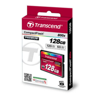 Transcend 128GB CompactFlash 800x 120MB/s