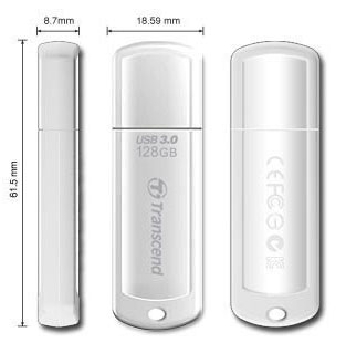 Transcend JetFlash 730 128GB USB 3.0 Flash drive