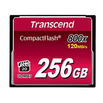 Transcend 256GB CompactFlash 800x 120MB/s