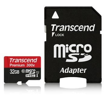Transcend 32GB microSDHC 300x UHS-I Premium Class 10
