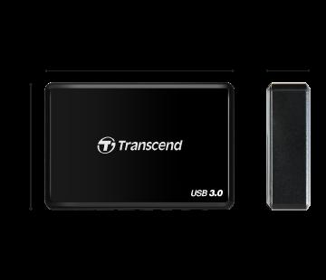 Afmetingen van de Transcend CFast Card Reader.