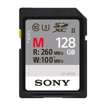 SONY 128 GB SDXC SF-M series UHS-II geheugenkaart R260 / W100