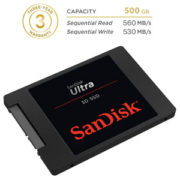 SanDisk 500 GB SSD Ultra 3D NAND Flash SATA 3
