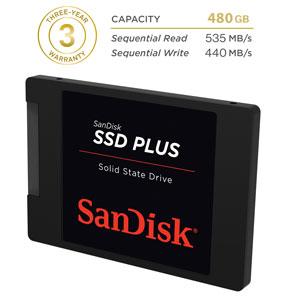 SanDisk 480 GB SSD Plus 2,5 inch SATA 3