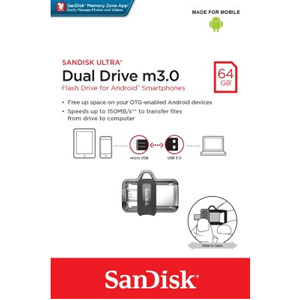 SanDisk Ultra Dual M3.0 64GB USB Flash Drive
