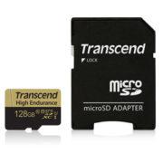 Transcend Micro SD High Endurance met adapter voor beveiligingscamera's en Dashcam's