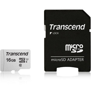 Transcend 300S 16GB microSD UHS-I geheugenkaart