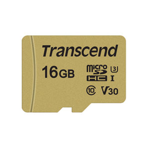 Transcend 500S 16GB microSD UHS-I U3 V30 geheugenkaart