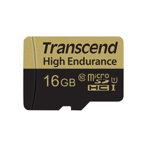 Transcend High Endurance 16 GB Micro SD voor dashcam,