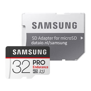 Samsung Pro Endurance 32 GB micro SD geheugenkaart 100MB/s
