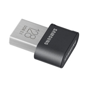Samsung 128 GB Fit Plus mini USB Drive.