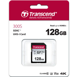 Transcend 300S 128GB SDXC UHS-I 95MB/s SD Kaart
