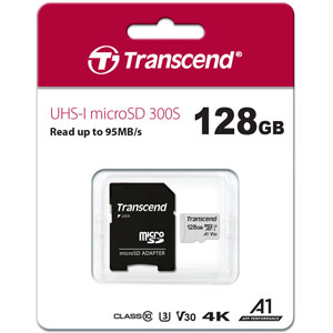 Transcend 300S 128GB microSD UHS-I geheugenkaart