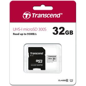 Transcend 300S 32GB microSD UHS-I geheugenkaart
