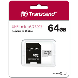 Transcend 300S 64GB microSD UHS-I geheugenkaart