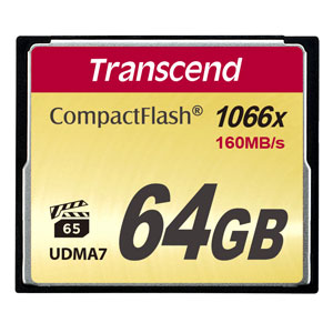 Transcend 64GB CompactFlash 1000x 160MB/s