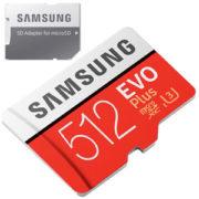 Samsung EVO Plus 512GB micro SD geheugenkaart 100MB/s