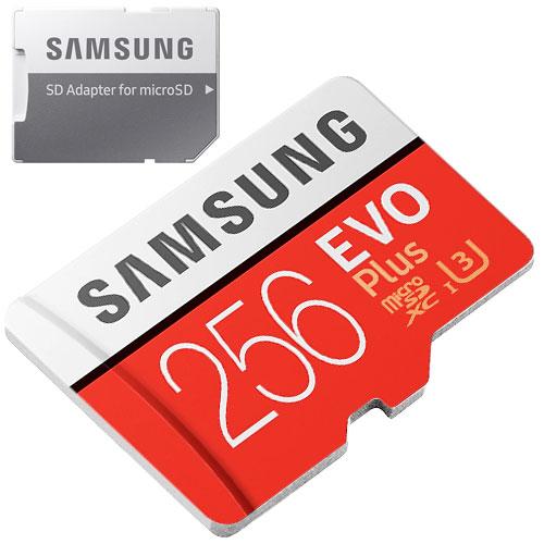 Samsung EVO Plus 256GB micro SD geheugenkaart 100MB/s