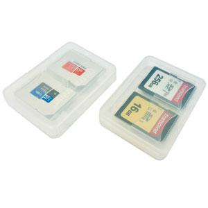 Opbergdoosje voor 4 SD en micro SD geheugenkaarten Transcend