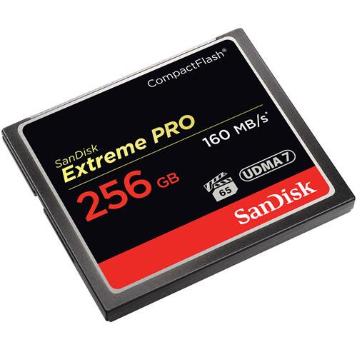 EEN COMBINATIE VAN OPSLAGCAPACITEIT EN PROFESSIONELE PERFORMANCE DIE TOONAANGEVEND IS IN DE INDUSTRIE. Krijg opslag met hogere capaciteit, snellere prestaties van opname tot opname en video's van bioscoopkwaliteit met de SanDisk Extreme PRO CompactFlash-geheugenkaart. Met overdrachtssnelheden tot 160 MB/s biedt deze kaart de snelle, efficiënte performance die u verwacht van de wereldleider in flash-geheugenkaarten. Deze toonaangevende geheugenkaart is geoptimaliseerd voor video-opnames van professionele klasse en heeft een minimale duurzame schrijfsnelheid van 65MB/s voor rijke 4K en Full HD video. Capaciteiten tot 256GB accommoderen video-uren en duizenden hoge-resolutie beelden. Deze geheugenkaart weerstaat extreme temperaturen, schokken en andere condities, dus mist u nooit een scene of shot. SHOOT RICH (MAAK RIJKE VIDEO'S), BIOSKOOPSKWALITEIT VIDEO De SanDisk Extreme PRO CompactFlash-geheugenkaart is de eerste hoge-capaciteit kaart ter wereld die VPG-65 ondersteunt, de video-performance garantiespecificatie die gemakkelijk 4K video-opnames garandeert evenals Full HD. Professionals die de hoogste videoregistratieduur nodig hebben, zullen de performane die zij nodig hebben in deze geheugenkaart vinden. SHOT-SNELHEIDSPERFORMANCE DIE LEIDEND IS IN DE INDUSTRIE De SanDisk Extreme PRO CompactFlash-geheugenkaart is geoptimaliseerd voor 4K videovastlegging en levert een minimale duurzame schrijfsnelheid van 65MB/s met een toonaangevende shotsnelheid tot 150MB/s voor 16GB - 128GB-kaarten en tot 140MB/s voor de 256GB-kaart. En, met overdrachtssnelheden tot 160MB/s, maakt dit het gemakkelijk om zelfs grote bestanden te verplaatsen zodat zij opgeslagen en bewerkt kunnen worden. Deze geheugenkaart is ook geschikt voor UDMA EXTREME OPSLAG MET CAPACITEITEN TOT 256GB De SanDisk Extreme PRO CompactFlash-geheugenkaart kan, met capaciteiten tot 256GB, al uw hoge-resolutie foto's en video's die vol geheugen zijn, opslaan. HAAL ZOVEEL MOGELIJK UIT UW DSLR OF CAMCORDER Met de betrouw