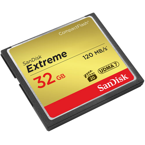SanDisk 32GB Compact Flash Extreme VPG20 120MB/s