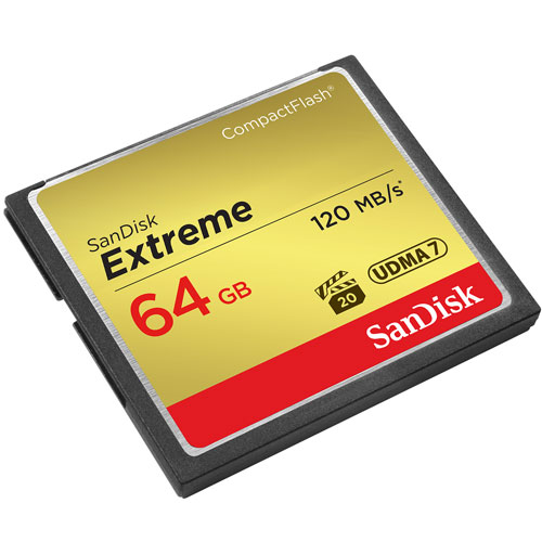 SanDisk 64GB Compact Flash Extreme VPG20 120MB/s