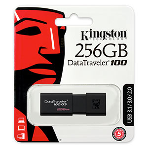 Kingston 256 Data Traveler USB Flash drive verpakking