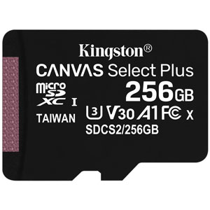 Kingston 256GB Canvas Select Plus U1 A1 Micro SD