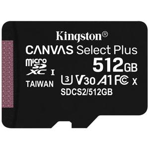 Kingston 512GB Canvas Select Plus U1 A1 Micro SD
