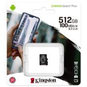Kingston 512GB Canvas Select Plus U1 A1 Micro SD Verpakking