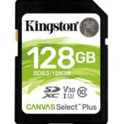 Kingston 128GB SD Kaart Canvas Select Plus UHS-I U1 V10