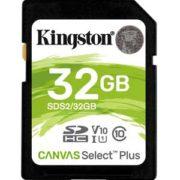 Kingston 32GB SD Kaart Canvas Select Plus UHS-I U1 V10