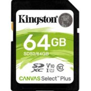 Kingston 64GB SD Kaart Canvas Select Plus UHS-I U1 V10