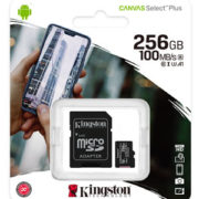 Kingston 256GB Canvas Select Plus U1 A1 Micro SD Verpakking