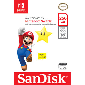 SanDisk 256 GB Extreme Micro SDXC voor Nintendo Switch verpakking
