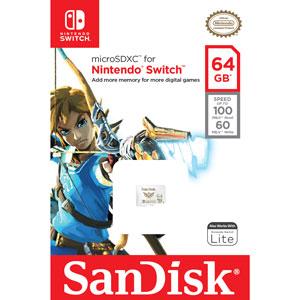 SanDisk 64 GB Extreme Micro SDXC voor Nintendo Switch verpakking