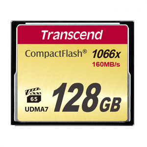 Transcend 128 GB CompactFlash 1000x 160MB/s